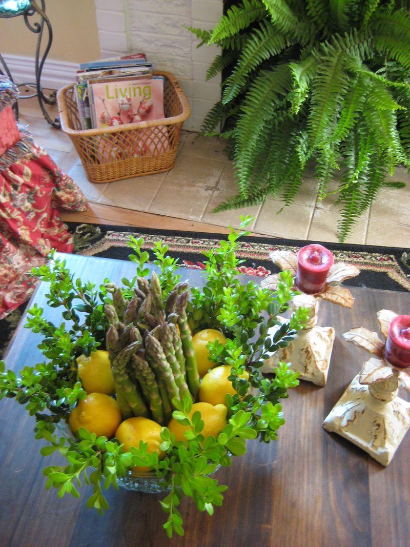Asparagus arrangement