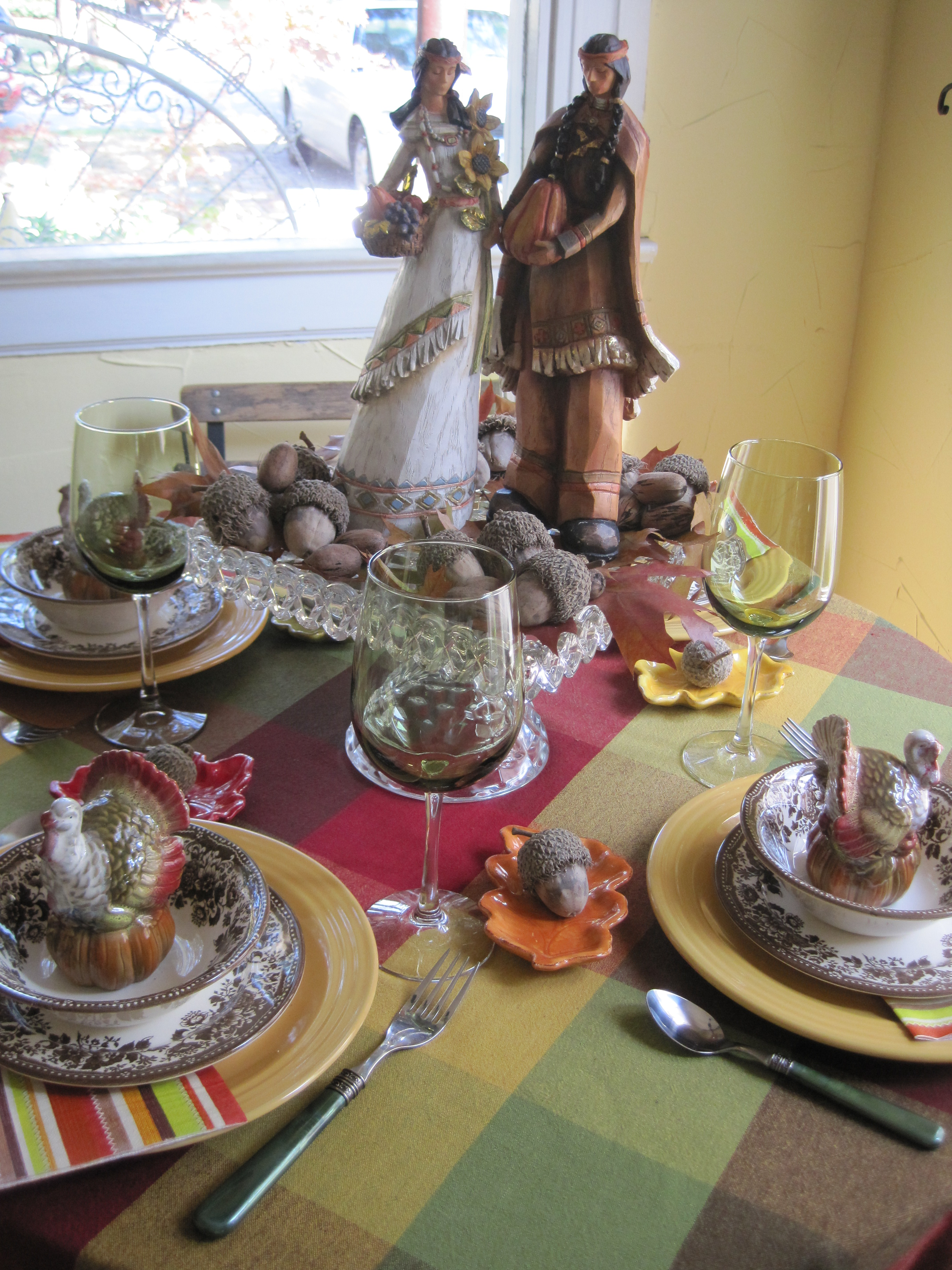 These Native American Figurines Were The Inspiration For The Table. I  Headed To Hobby Lobby One Morning, Intent On Buying Pilgrims, But These  Caught My Eye ...