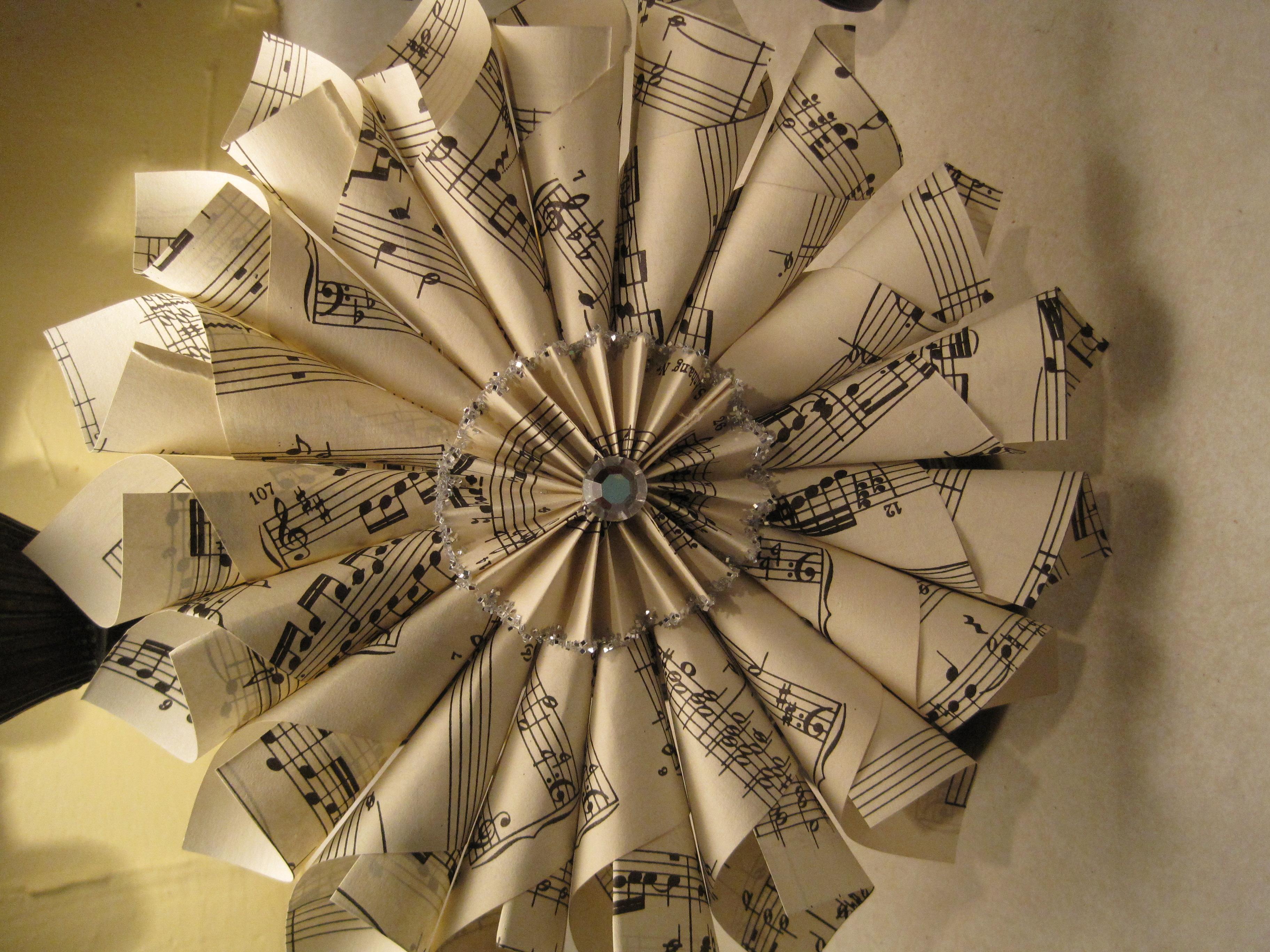 Penelope's Treasures: Vintage Sheet music Craft ideas