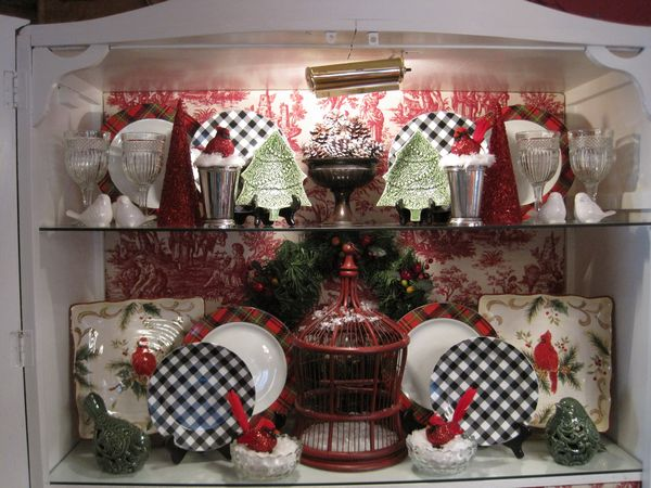Opulent Cottage: Christmas China Cabinet