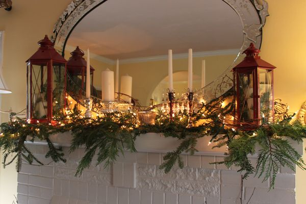 Opulent Cottage Rustic Holiday Mantel