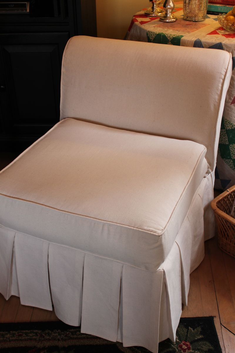 Slipcovers custom designed and tailored.