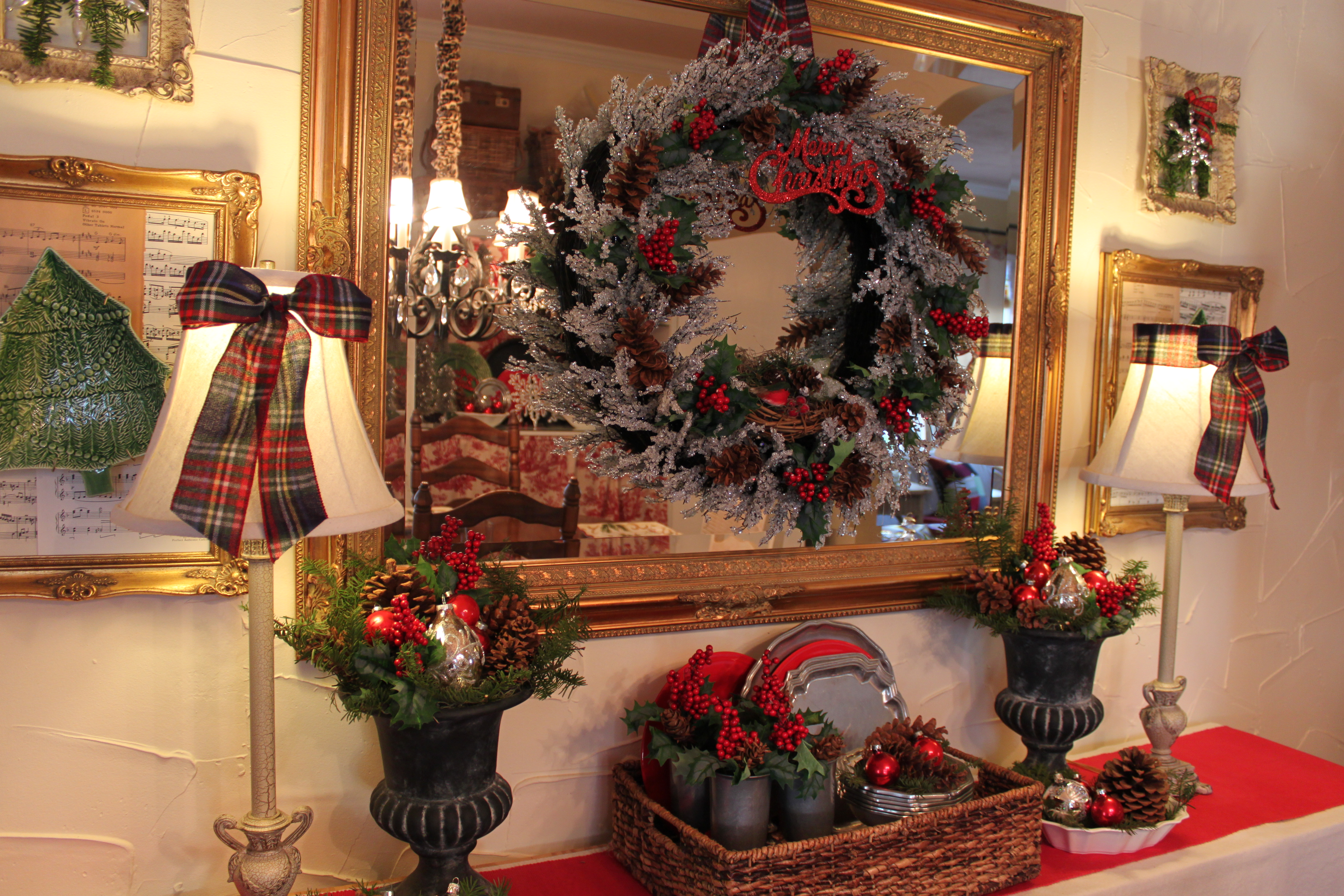 Picture of: Opulent Cottage Icy Christmas Dining Room Buffet