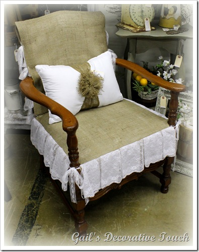 Burlap chair