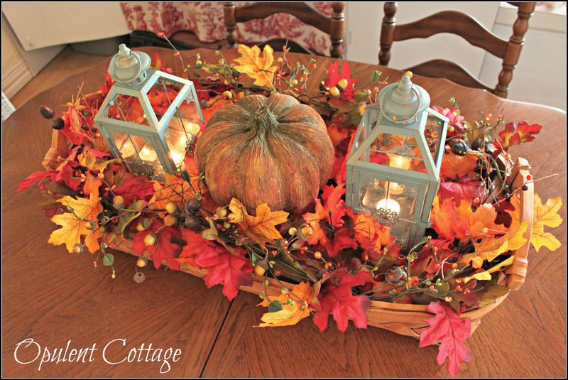 Opulent Cottage Harvest Basket Centerpiece2