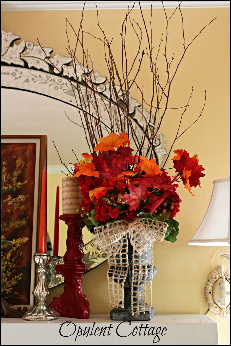 Opulent Cottage Fall Mantel2