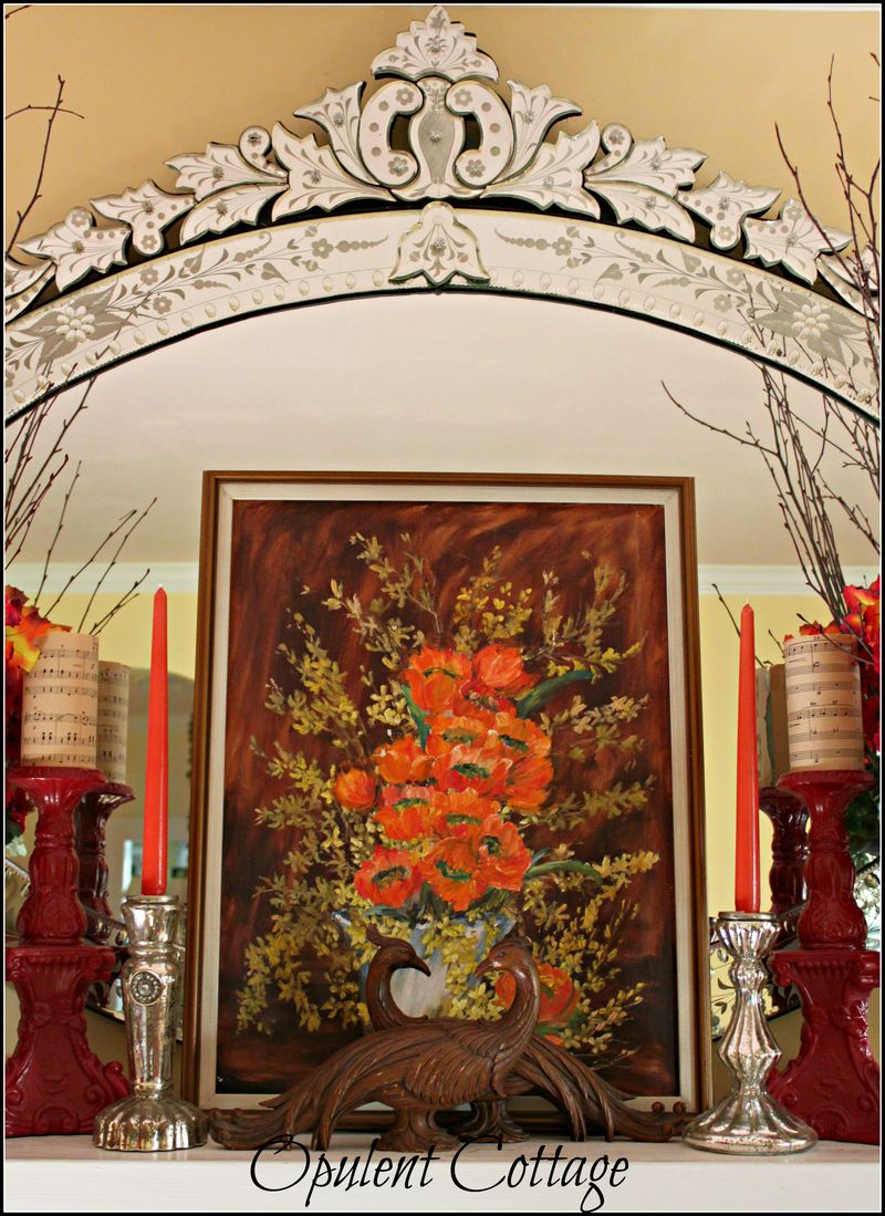 Opulent Cottage Fall Mantel3