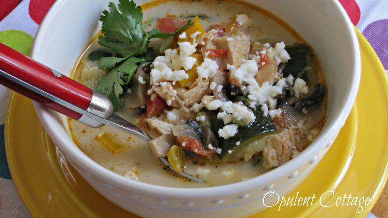 Opulent Cottage Creamy Tortilla Soup