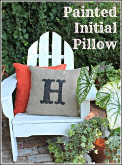 Painted Initial Pillow
