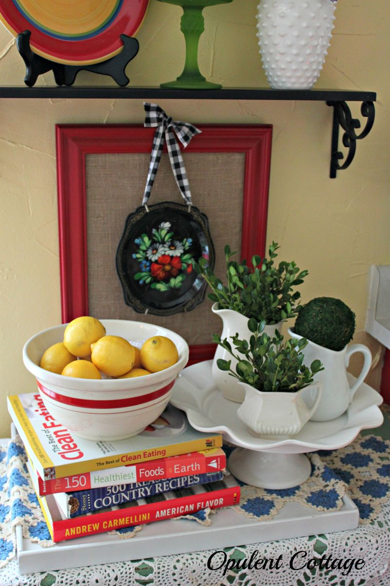 Opulent Cottage Kitchen Shelves Vignette2