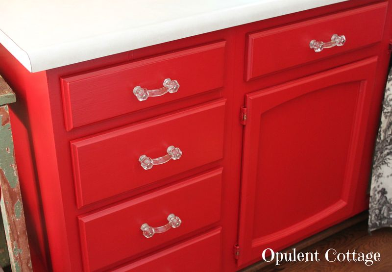 Red Kitchen Cabinets4