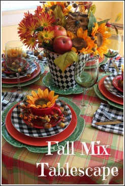 Fall Mix Tablescape