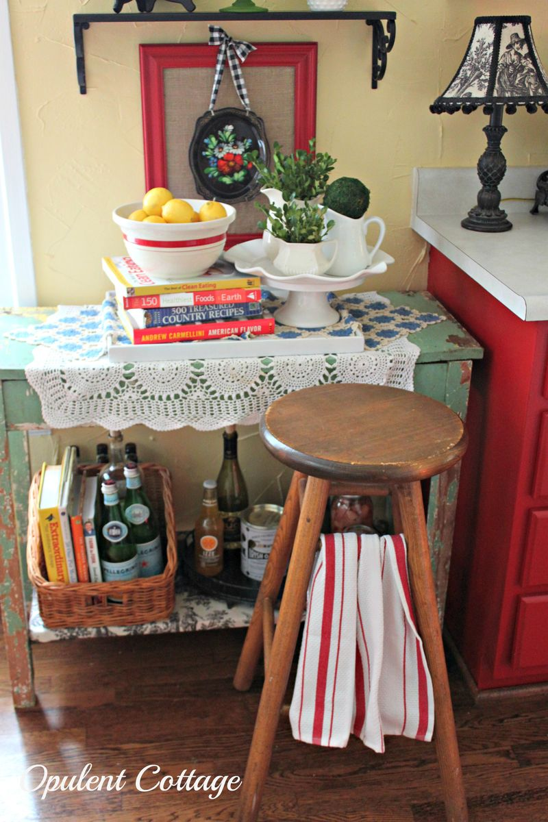 Opulent Cottage Kitchen Shelves Vignette4