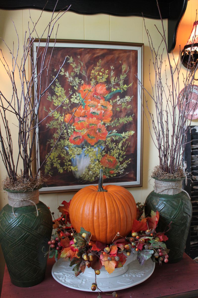Opulent Cottage Fall Foyer