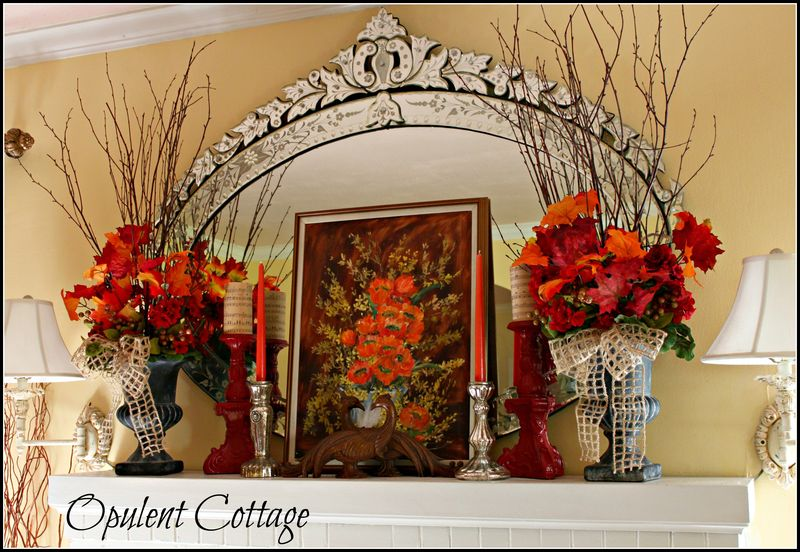 Opulent Cottage Fall Mantel 2013