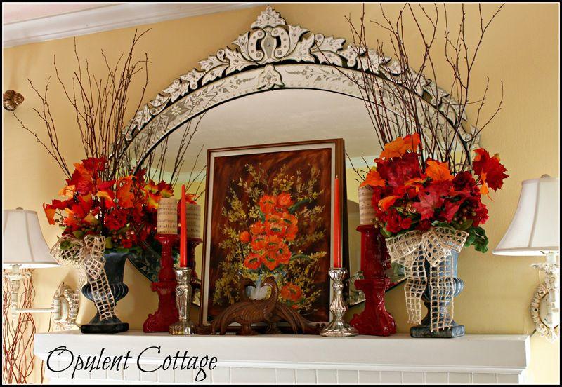 Opulent Cottage Fall Mantel 2013