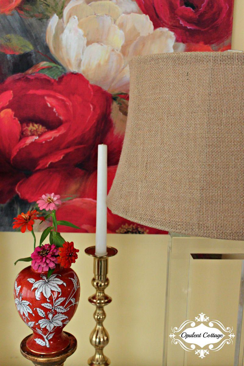Opulent Cottage Living Room Vignette