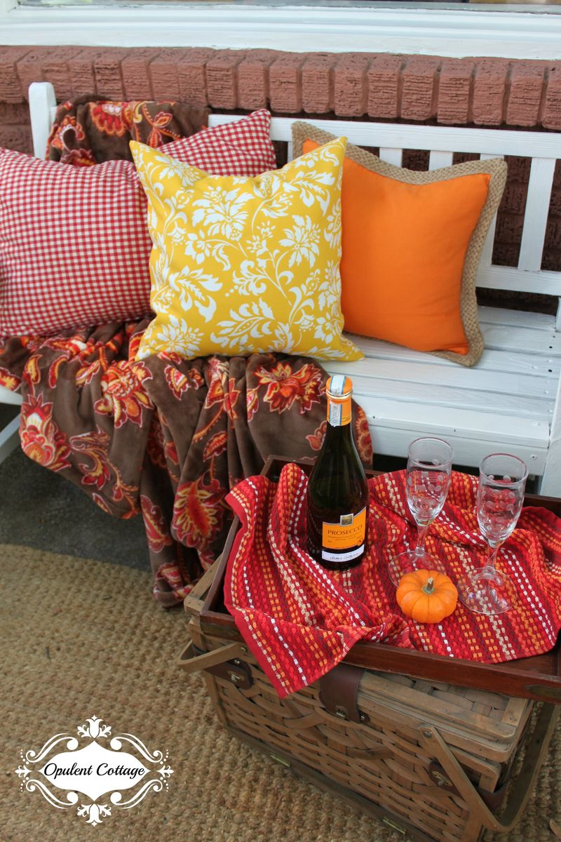Opulent Cottage Fall Home Tour Cozy Bench
