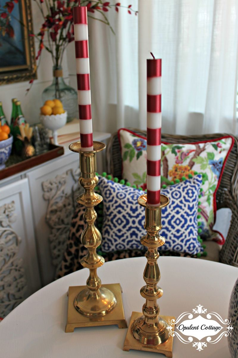 Opulent Cottage Brass Candlesticks for One Room Challenge