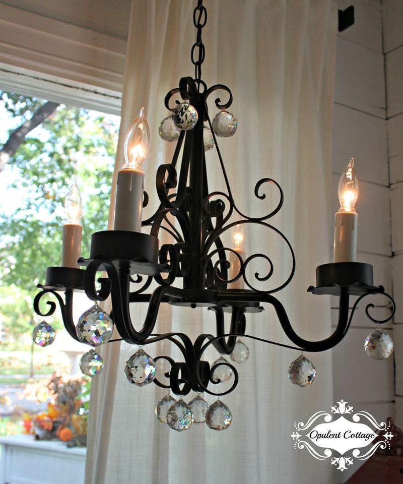 Opulent Cottage Chandelier for One Room Challenge