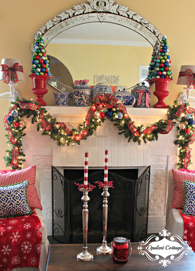 Opulent Cottage Christmas Mantel Garland 2015