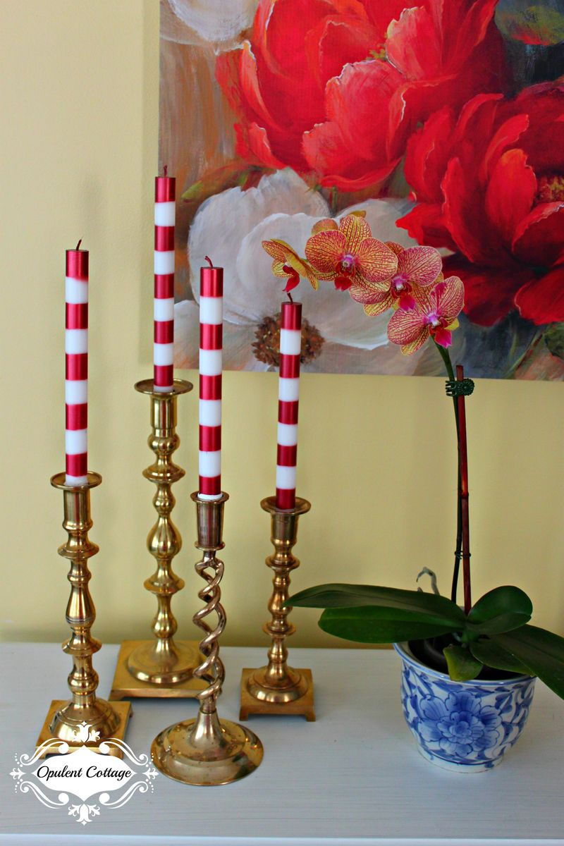 Opulent Cottage Brass Candlesticks