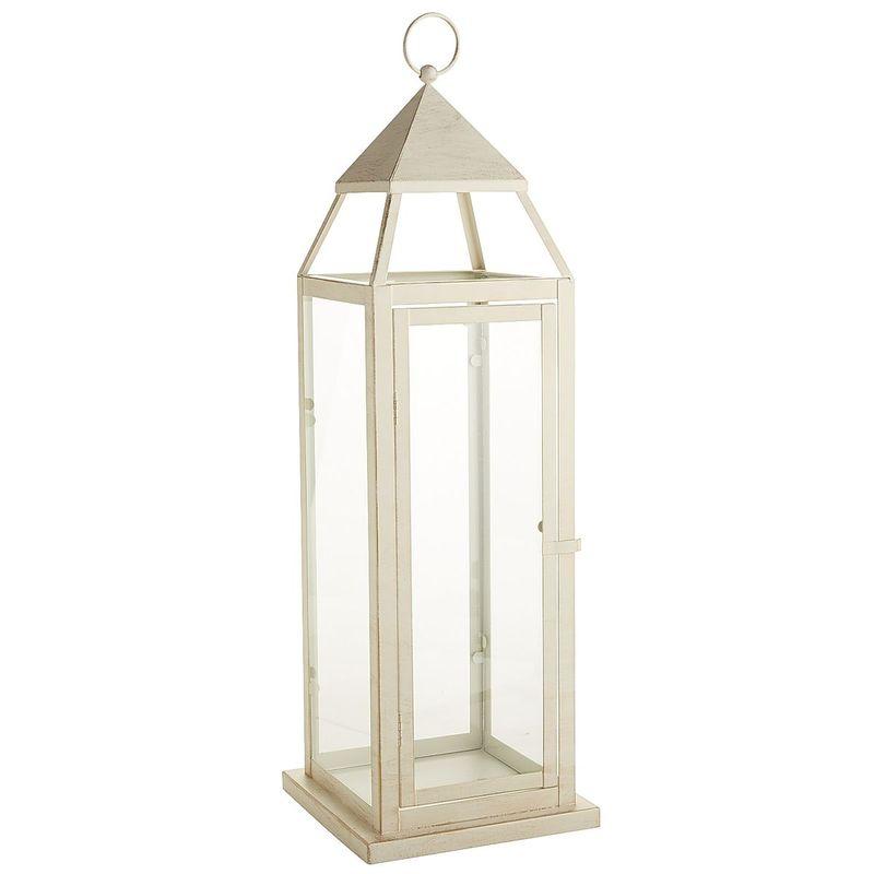 Pier1 White Lantern