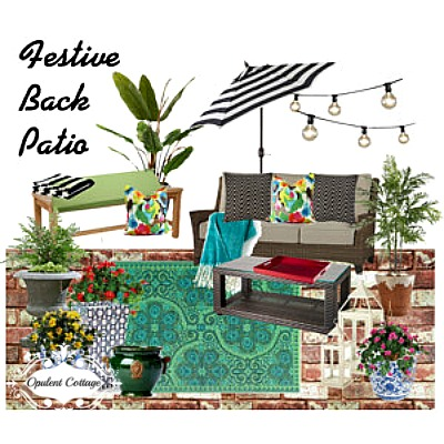 Opulent Cottage Patio Mood Board