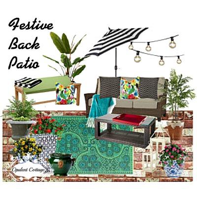 Opulent Cottage Patio Mood Board