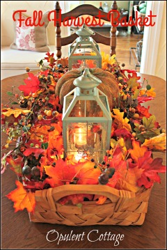 Opulent Cottage Fall Harvest Basket