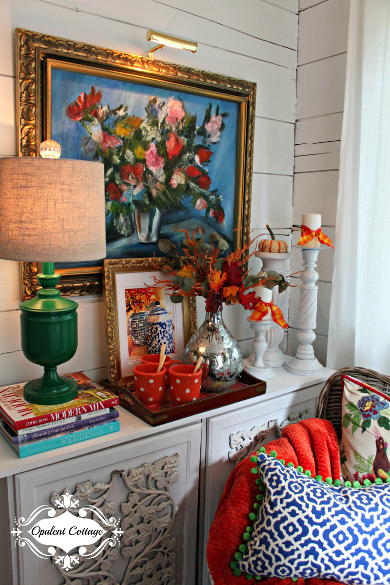 Opulent Cottage Sitting Area for Texas Bloggers Fall Tour