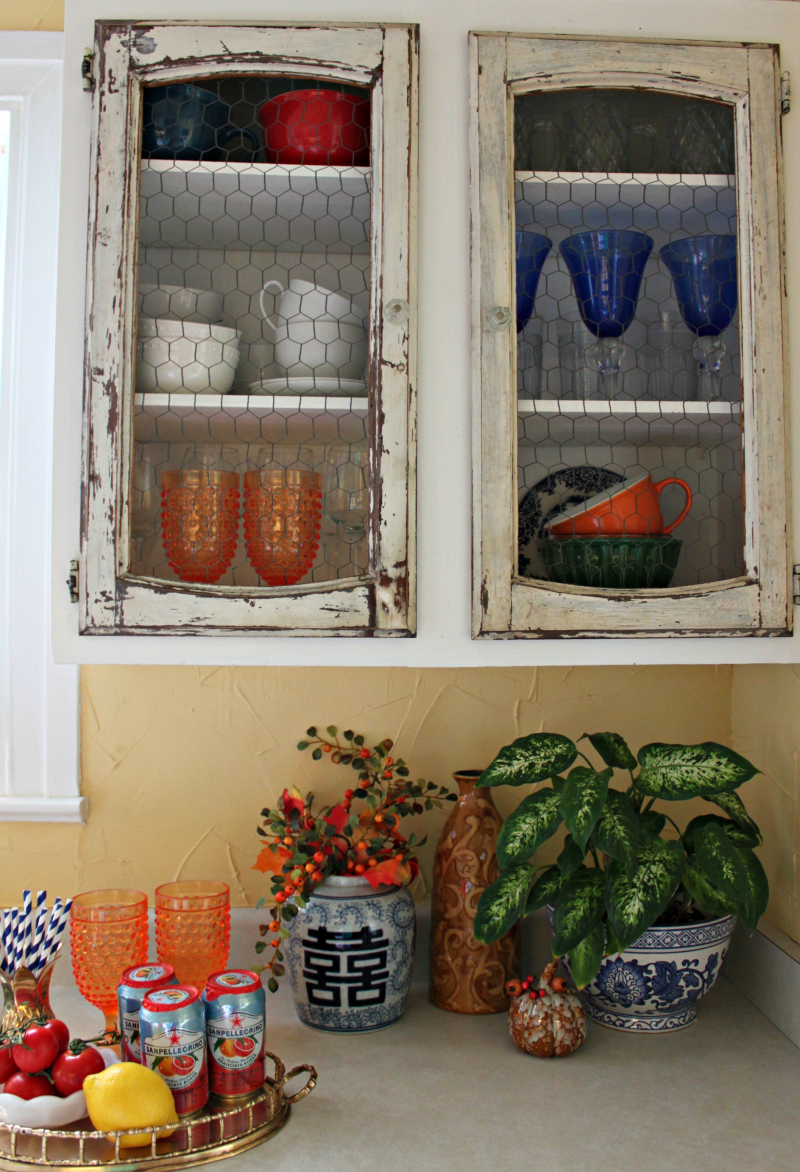 Opulent Cottage Fall Kitchen Display