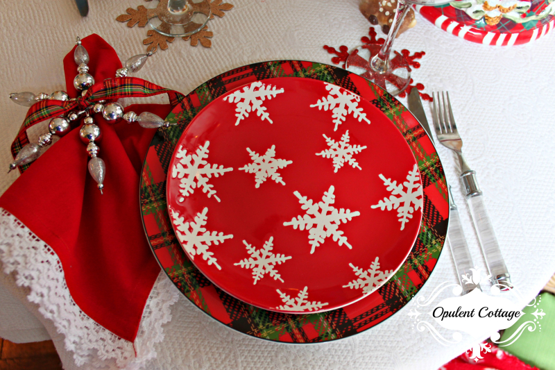 Opulent Cottage Snow Day Placesetting