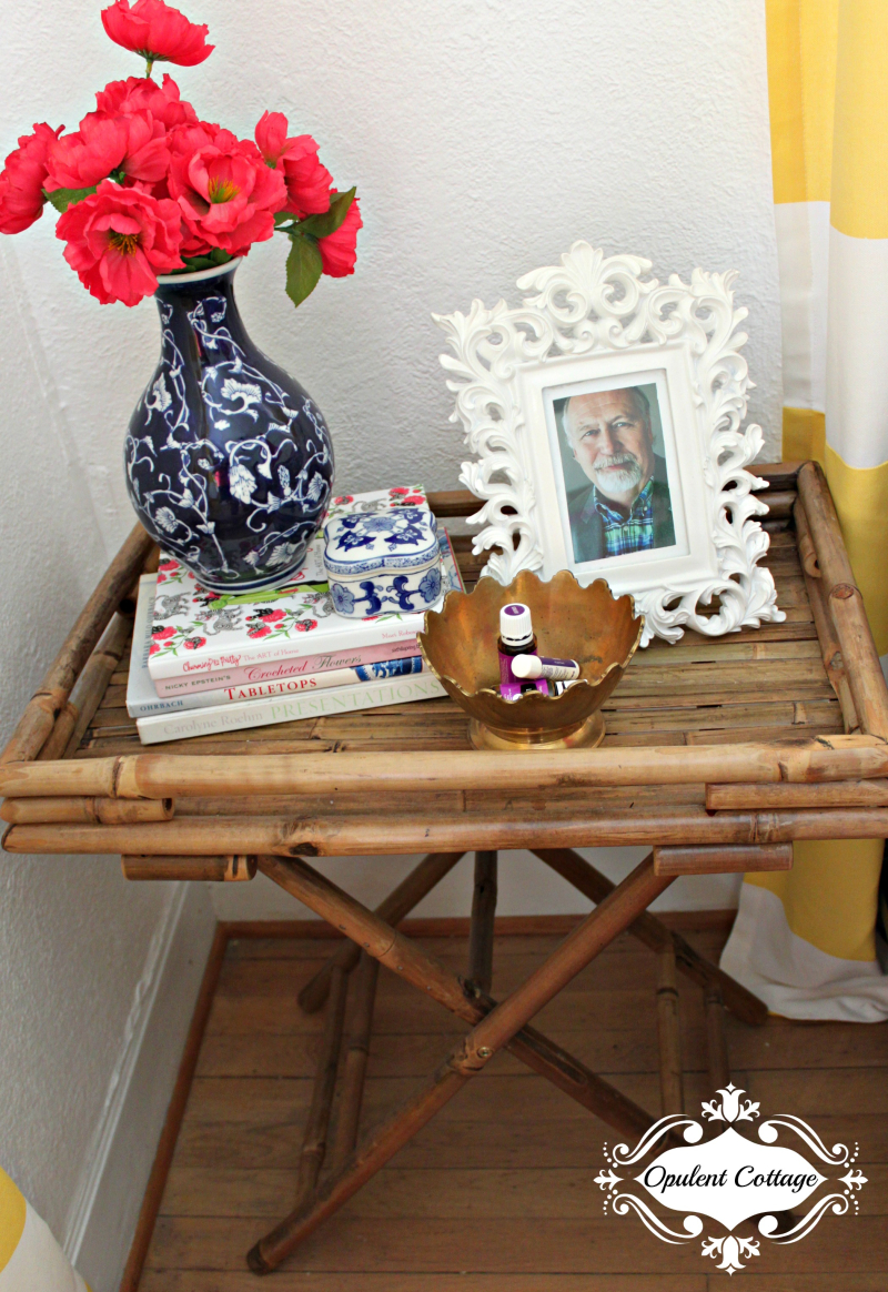 Opulent Cottage Bamboo Night Stand