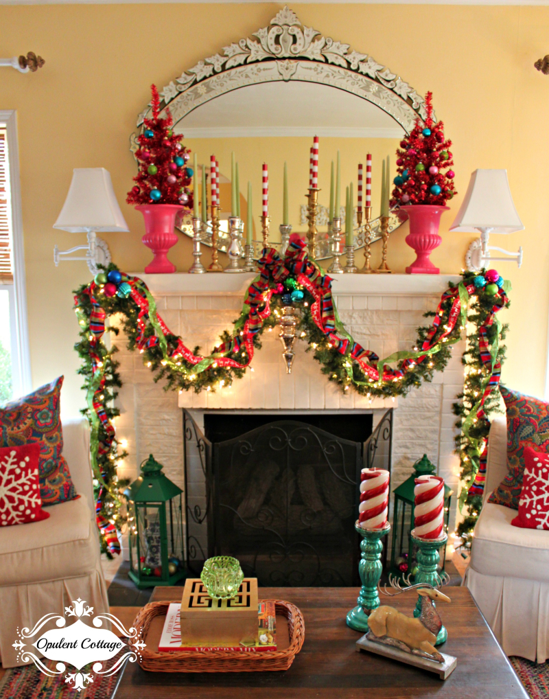 Opulent Cottage Christmas Mantel 2016