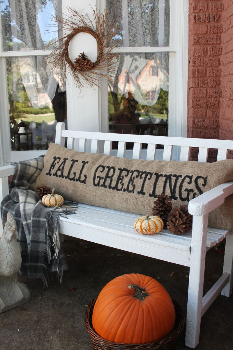 Opulent Cottage Fall Greetings Pillow