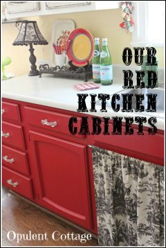 Our Red Kitchen Cabinets
