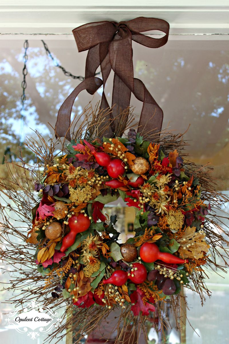 Opulent Cottage Fall Home Tour, Beautiful Balsam Hill Wreath
