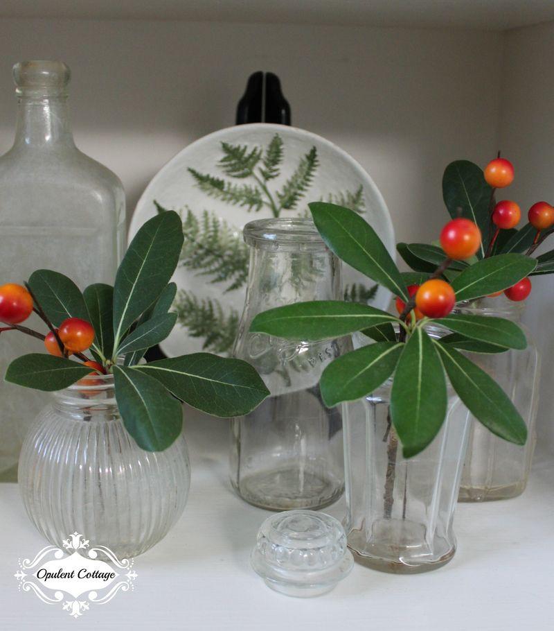 Opulent Cottage Vintage Bottles