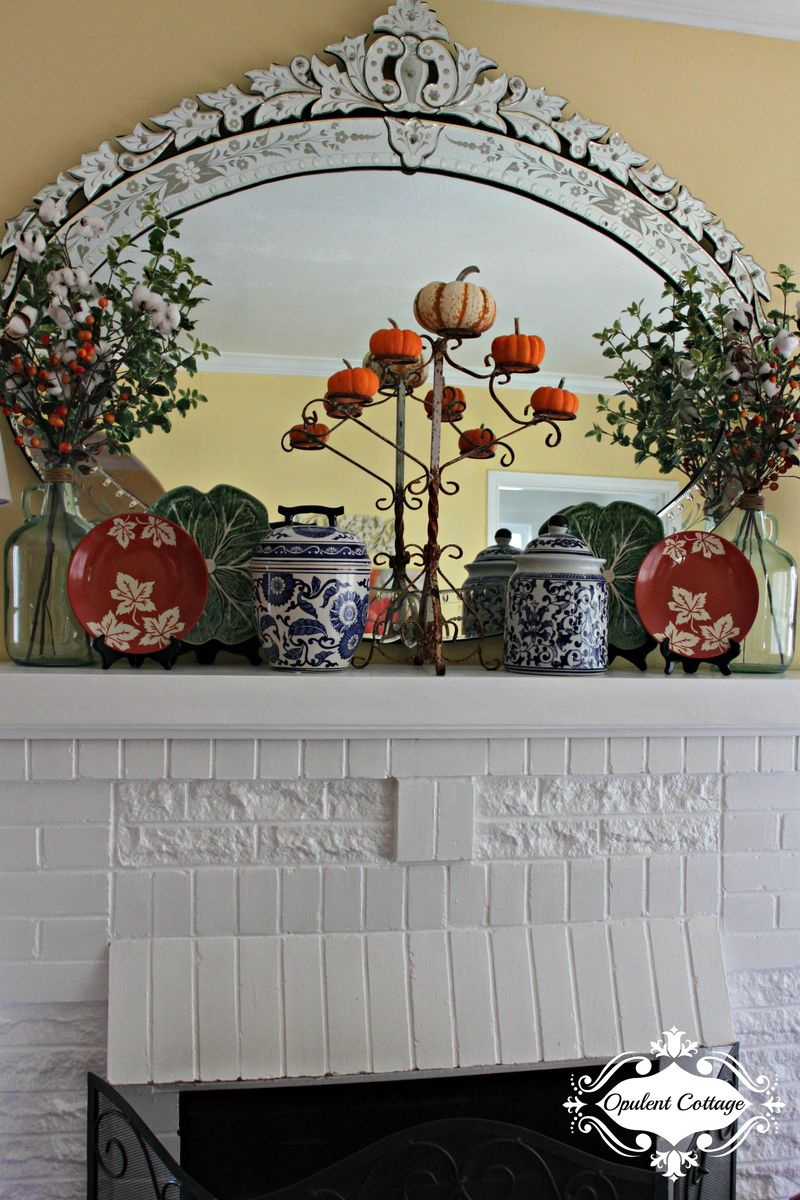 Opulent Cottage Fall Mantel