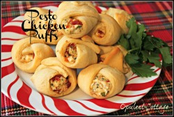 Pesto Chicken Puffs