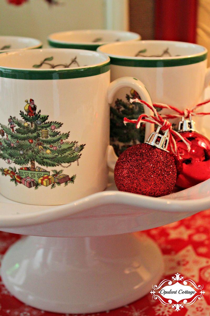 Opulent Cottage Christmas Kitchen Peek
