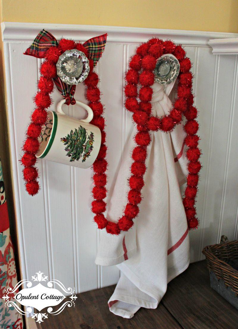 Opulent Cottage Christmas Kitchen Vintage Door Knobs 2015