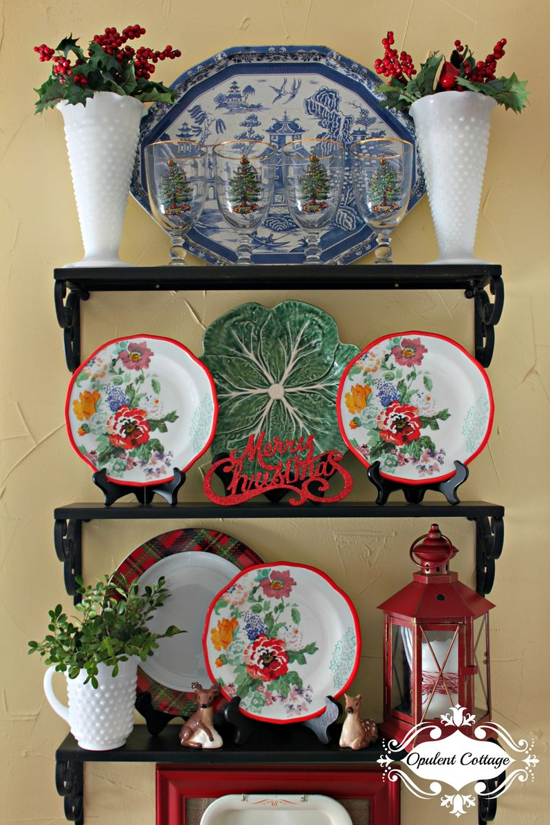 Opulent Cottage Christmas Kitchen Display 2015