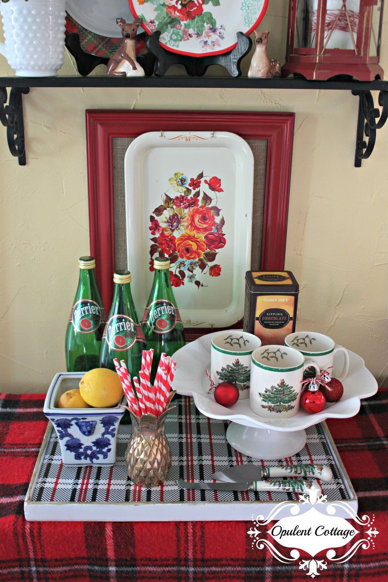 Opulent Cottage Christmas Kitchen Vignette 2015