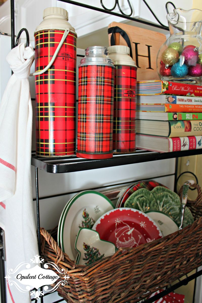 Opulent Cottage Christmas Plaid Thermos Collection