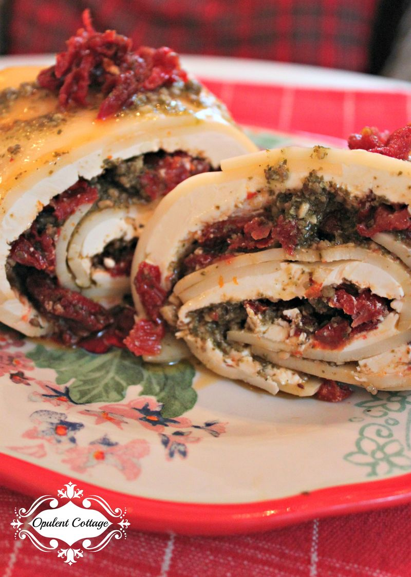 Opulent Cottage Sundried Tomato Cheese Roll Layers