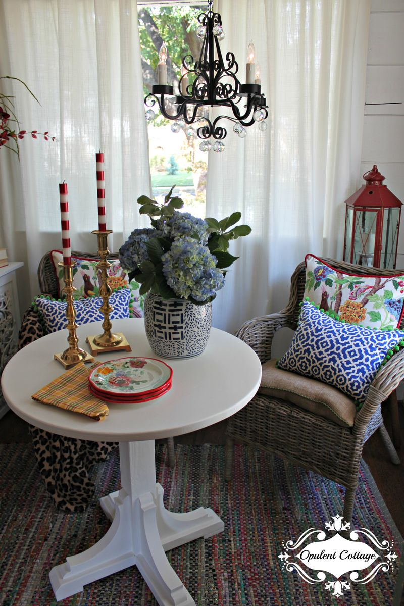 Opulent Cottage Sitting Area for One Room Challenge