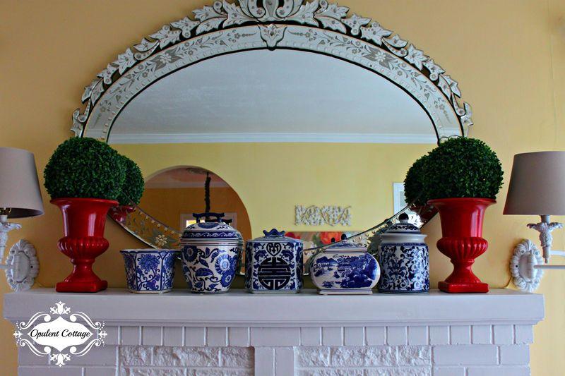 Opulent Cottage Spring Mantel
