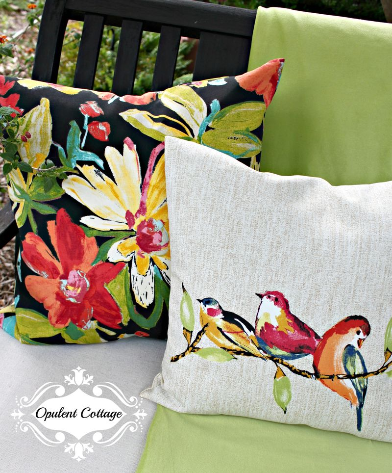 Opulent Cottage Outdoor Pillows for One Room Challenge
